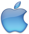 Apple logo blue